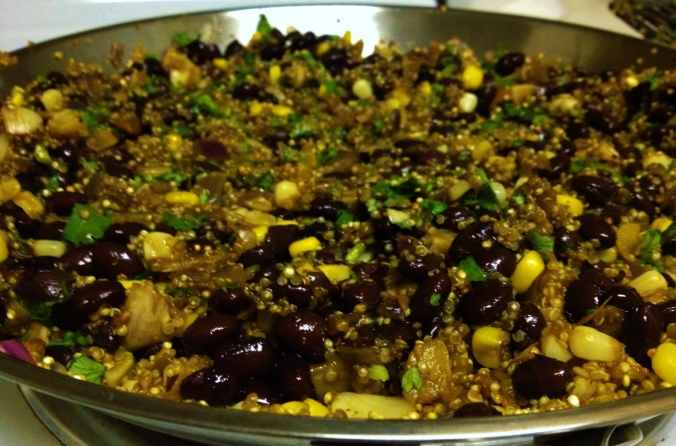 quinoa and black bean