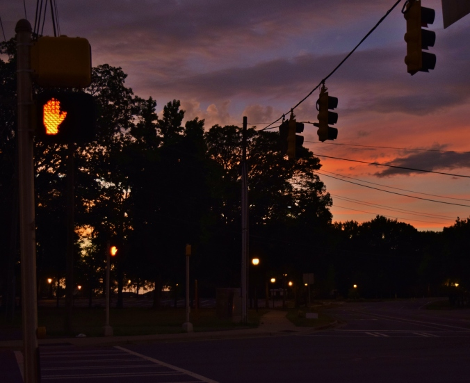 stop sign sunset